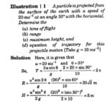 Projectile Motion Numerical problems with solution guidance | word problem worksheet class 11