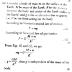 Acceleration due to gravity of a body is independent of its mass-How to Show mathematically?