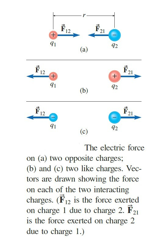 coulomb's force direction