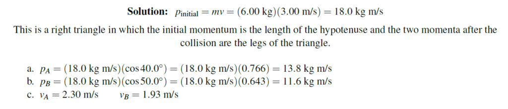 question 3 on collision numerical solved