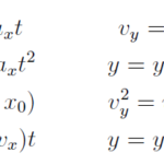 Motion in 2 and 3 Dimensions - formula & numerical