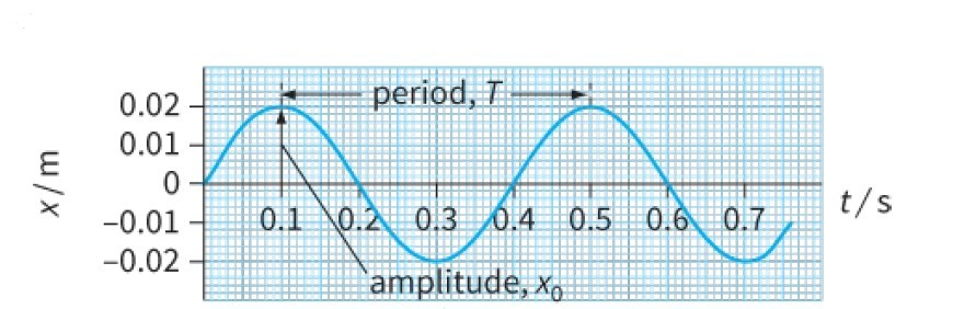 Figure 2a:  Displacement-time (x-t) graph